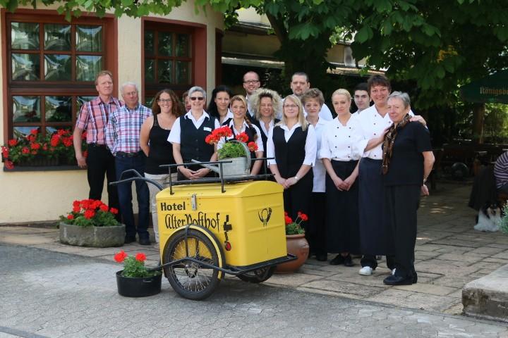 Unser freundliches Team vom Flair Hotel Alter Posthof in Spay